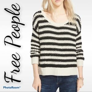 """Free People M """"at the beach"""" chunky knit sweater"""